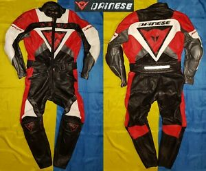 ● DAINESE AERO ITALY MADE MOTORCYCLE RACING LEATHER SUIT SIZE MEN'S ADULT 46 ●