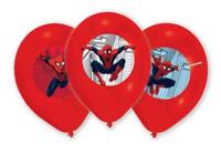6 x Boys Birthday Party Marvel Spiderman Themed Latex Balloons Decorations