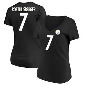 Pittsburgh Steelers NFL Roethlisberger #7 Women's V-neck Short Sleeve T-Shirts