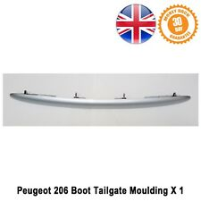 Peugeot 206+ Rear Tailgate Moulding Boot Mould Hatch Plynth Handle Silver New