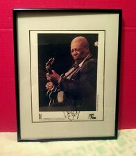 """""""B.B. King"""" signed 8 x 10 color promo-photo (Lucille!!)...from him personally!!!"""
