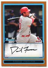 2009 Bowman Prospects Orange 38 David Freese Rookie /250