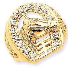 Horseshoe Ring .25 Ct. Diamonds and 14K Gold Horse Shoe Cowboy Vaquero Caballo