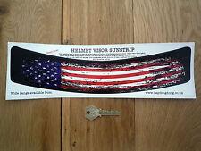 Estados Unidos Stars & Stripes Usado envejecido Casco Visor sunstrip Etiqueta Auto Moto Bandera