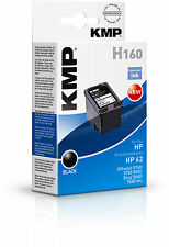 KMP cartucho h160 para c2p04ae HP 62 a OfficeJet 5740, etc. negro cartucho