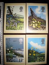 SPRING WILD FLOWERS SET 4 PHQ CARDS WITH FIRST DAY OF ISSUE STAMPS 21/03/1979 e5