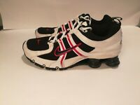 2007 Nike Shox NZ BRS 1000 Mens Athletic Running Shoes White Black Red Size 8.5