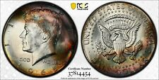 1965 50c PCGS MS66+ Kennedy Half Dollar, Colorful Toning on Both Sides!