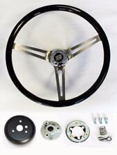 67 68 Buick Skylark GS Riviera Black Wood Steering Wheel High Gloss Grip 15""