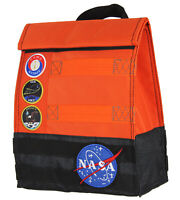 NASA Orange Space Suit Design With Apollo Patches Insulated Lunch Box Bag Tote