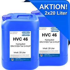 2x20l HVC 46 Hydraulikflüssigkeit HV ISO 46 HVLP 46 DIN 51524/3 40 Liter