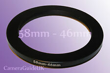 58mm to 46mm 58mm-46mm Stepping Step Down Filter Ring Adapter