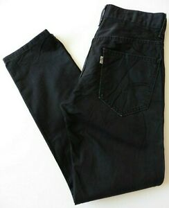 Men's Levis Slim Fit Jeans W28 L30 Black Size 28S Levi Strauss
