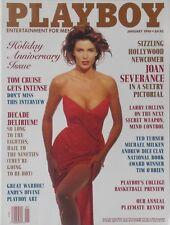 JOAN SEVERANCE January 1990 PLAYBOY Magazine TOM CRUISE / PEGGY McINTAGGART