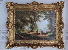 Gemälde Jesus Maria Ikonen Heiligenbild mit Rahmen 56x46 cm Religiöse Bilder 56