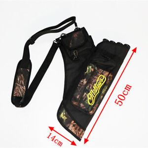 Oxford Mathews Arrow Quiver Bag 24pcs Archery Arrows Holder 4 Tubes Detachable