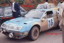 Jean Ragnotti Alpine-Renault A310 1800 Acropolis Rally 1976 Photograph 1