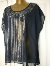 Papaya Occasion wear 18 blue silver front party Christmas pretty Blouse