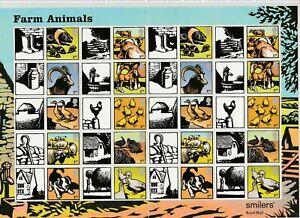 GB 2005 SMILER SHEET LS22 FARM ANIMALS MINT