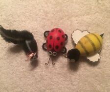 Animal Refrigerator Magnets Bumble Bee Ladybug Skunk Fridge Decoration SET OF 3