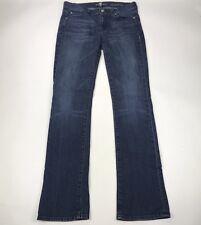 7 For All ManKind Straight Leg Jeans Women's Size 27 Dark Wash Stretch Cotton