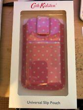 cath kidston universal slip pouch mobile phone holder/case new, mini dot pink