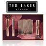 Ted Baker Hibiscus Kiss Make up travel Gold Mirror Gift Set Lip Balm Lipstick