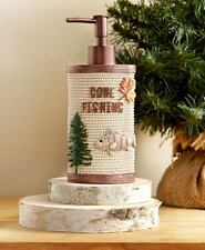 Lakehouse Gone Fishing Bath Collection Lotion Soap Pump Dispenser Cabin Lodge
