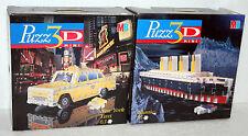 PUZZ 3D MINI PUZZLE MB TITANIC + NEW YORK TAXI NUOVI CON SCATOLA FONDI MAGAZZINO