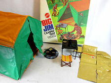 Vintage 1972 Big Jim Campin' Tent set by Mattel no. 8873