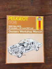Peugeot 504 by J.H. Haynes, B.L. Chalmers-Hunt and John Harold Haynes (1980) P10
