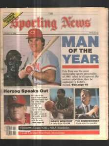 The Sporting News Newspaper Jan 6 , 1986 Man of the Year Pete Rose