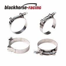 "4PC For 2-1/8'' Hose (2.36""-2.68"") 301 Stainless Steel T Bolt Clamps 60mm-68mm"