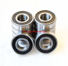Lot of 10 pcs 6200-2RS Ball Bearings 10mm x 30mm x 9mm, chrome steel, sealed