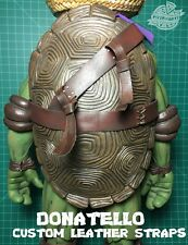 TMNT 1/4 SCALE DONATELLO MOD STRAPS LEATHER NINJA STRONG + RAPH TOOTHPICK NECA