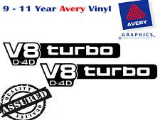 V8 TURBO D4D Pillar Decal Sticker suit TOYOTA LANDCRUISER