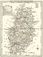 NOTTINGHAMSHIRE. County map. Polling places. Coach roads. DUGDALE 1845 old