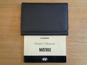Hyundai Matrix Owners Handbook/Manual and Wallet 01-05