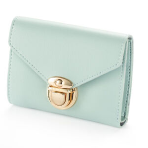 US Womens Soft Leather Small Mini Wallet Card Holder Purse Clutch Handbag