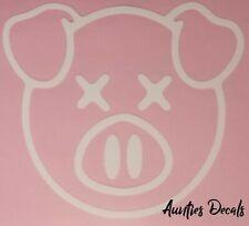 Shane Dawson PIG Iron On Decal (6 X 6 Inches) WHITE