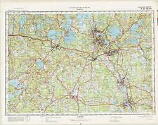 Russian Soviet Military Topographic Maps - KOUVOLA (Finland), 1:100 000, ed.1974