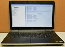"Dell Latitude E6530 Core i7-3740QM 2.70GHz 8GB RAM 15.6"" Full-HD Laptop NO HDD"