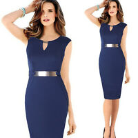 Womens Office Lady Formal Work Business Party Sheath Tunic Pencil Dress Skirts