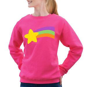 Gravity Falls Mabel Pines rainbow Pink Sweatshirt Halloween Costume Adult Sizes