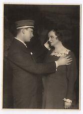 PHOTO ANCIENNE Pièce de Théâtre Acteur Actrice Consolation Vers 1920 Main Bague