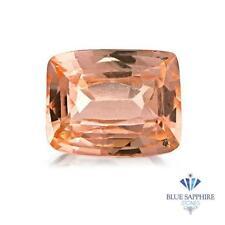 1.21 ct. Cushion Peachy Natural Pink Sapphire ~ 7 x 5 mm