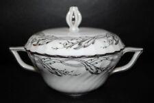 RARE Royal Tettau Princess Covered Sugar Bowl Pearl Grey