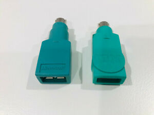 2 X USB Female to PS/2 Male Adapters (1 X IBM, 1 X Microsoft) - For PC Mice