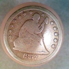 1857-P Seated Liberty Quarter Dollar (001)