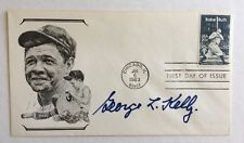 George L Kelly Signed 1983 Babe Ruth FDC Cachet SGC
